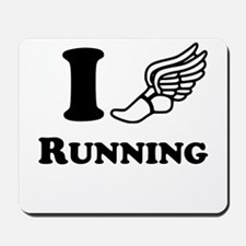 I Heart Running Mousepad