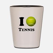 I Heart Tennis Shot Glass