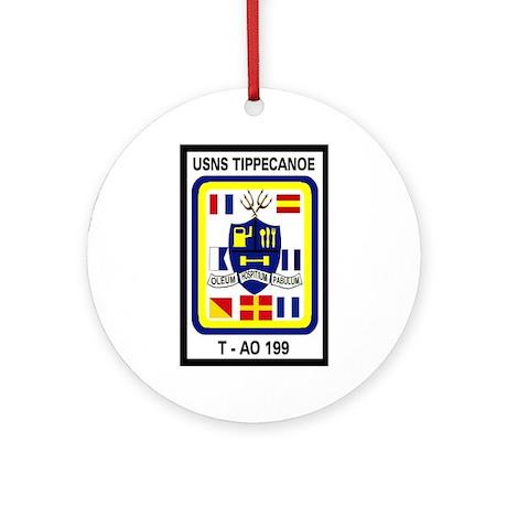 T AO 199 USNS Tippecanoe Ornament (Round)