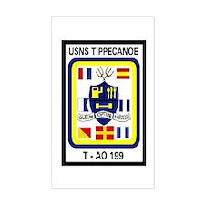 T AO 199 USNS Tippecanoe Rectangle Decal