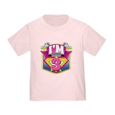 Super Hero 3rd Birthday T