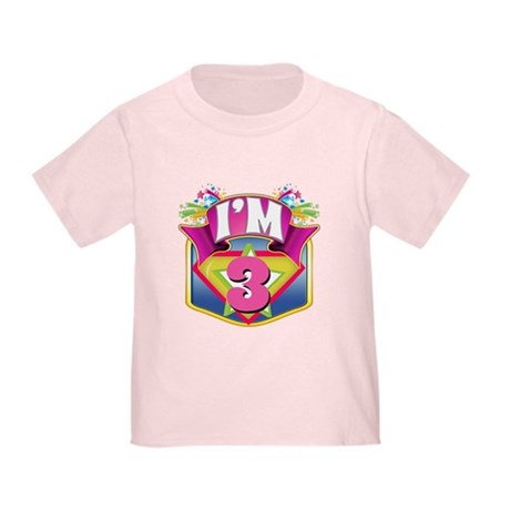 Super Hero 3rd Birthday Toddler T-Shirt