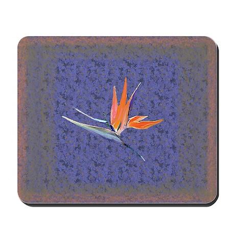 Blue Bird of Paradise Mousepad