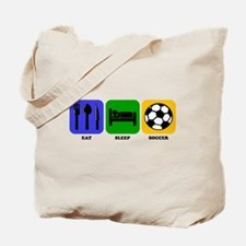 Eat Sleep Soccer Tote Bag
