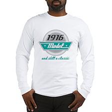 1916 Birthday Vintage Chrome Long Sleeve T-Shirt