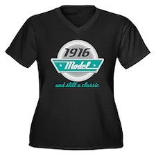 1916 Birthday Vintage Chrome Women's Plus Size V-N