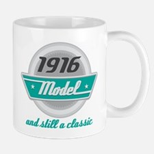 1916 Birthday Vintage Chrome Mug