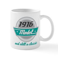 1916 Birthday Vintage Chrome Mug