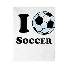 I Heart Soccer Twin Duvet