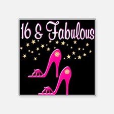 """16TH PINK SHOES Square Sticker 3"""" x 3"""""""