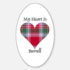 Heart - Burrell Sticker (Oval)