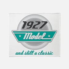 1927 Birthday Vintage Chrome Throw Blanket