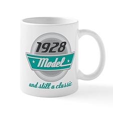 1928 Birthday Vintage Chrome Small Mug