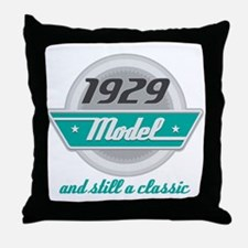 1929 Birthday Vintage Chrome Throw Pillow
