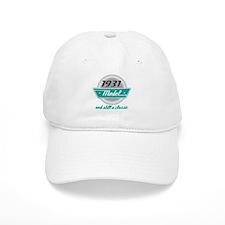 1931 Birthday Vintage Chrome Baseball Cap