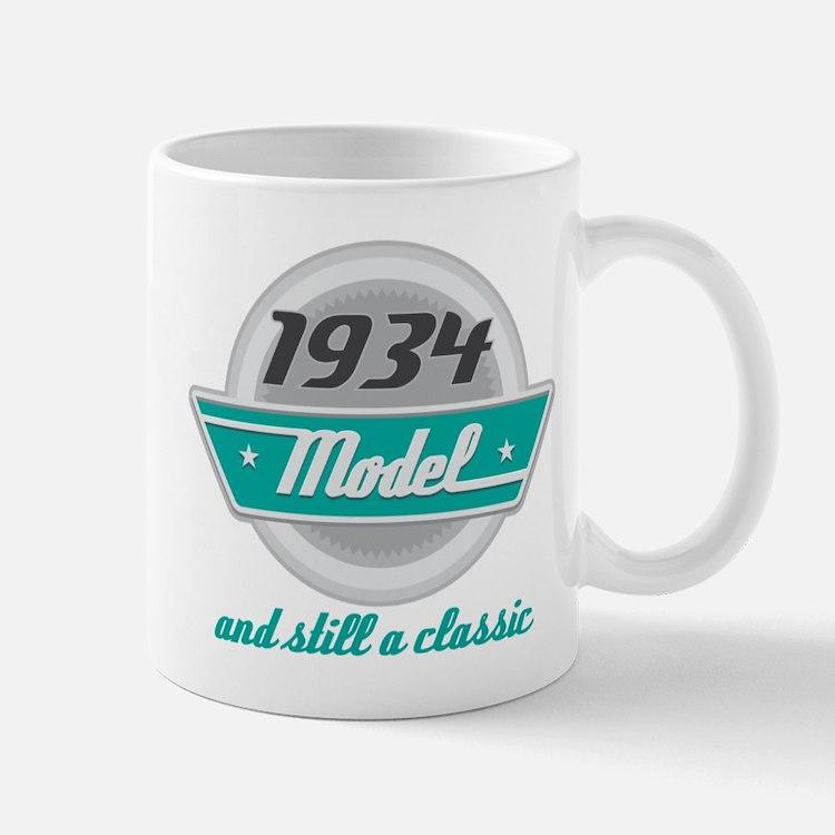 1934 Birthday Vintage Chrome Mug
