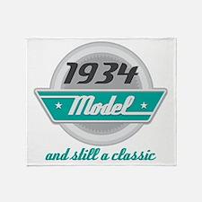 1934 Birthday Vintage Chrome Throw Blanket