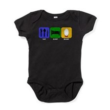 Eat Sleep Rugby Baby Bodysuit