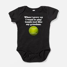 Play Tennis Like My Grandma Baby Bodysuit