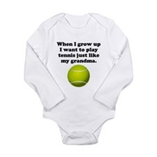 Play Tennis Like My Grandma Body Suit