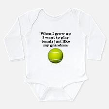 Play Tennis Like My Grandma Body Suit