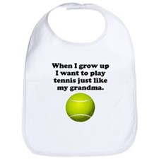 Play Tennis Like My Grandma Bib