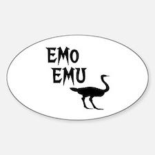 Emo Emu Oval Decal