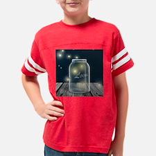 Midnight Fireflies Mason Jar Youth Football Shirt