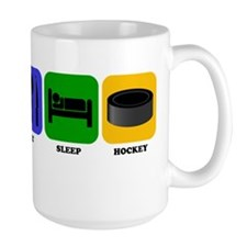 Eat Sleep Hockey Mugs