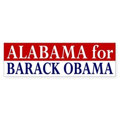 Alabama for Barack Obama (bumper sticker)