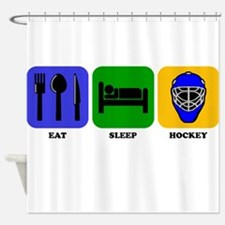 Eat Sleep Hockey Shower Curtain