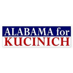 Alabama for Kucinich bumper sticker