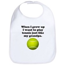 Play Tennis Like My Grandpa Bib