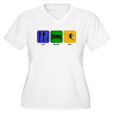 Eat Sleep Ski Plus Size T-Shirt