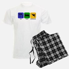 Eat Sleep Snowboard pajamas
