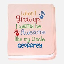 Personalized Awesome Like My Uncle baby blanket