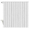 Black and white herringbone Shower Curtain