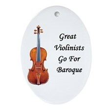 Great Violinists Go for Baroque Oval Ornament