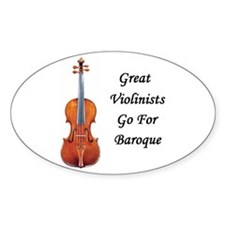 Go for Baroque Oval Decal