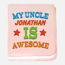 My Uncle Is Awesome baby blanket