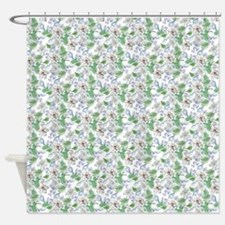 Watercolor Flower Pattern Shower Curtain