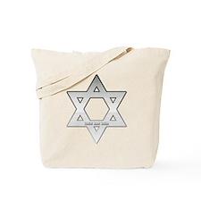 Silver Star of David Tote Bag