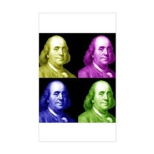 Ben Franklin Rectangle Decal
