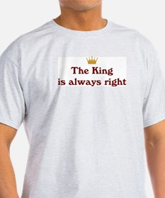King Is Right Ash Grey T-Shirt
