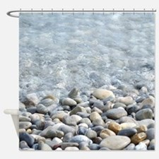 Ocean pebbles Shower Curtain