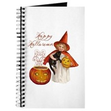 Vintage Halloween witch Journal