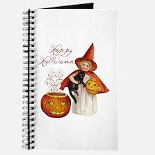 Vintage Halloween witch Journal