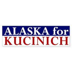 Alaska for Kucinich bumper sticker