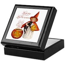 Vintage Halloween witch Keepsake Box