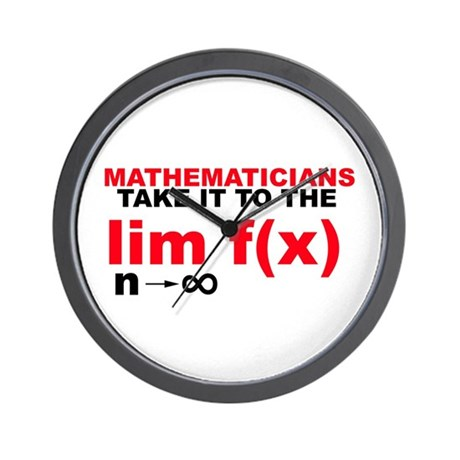 Mathematicians Take It To The Limit! Wall Clock